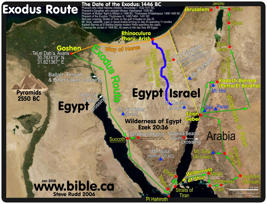 maps-bible-archeology-exodus-route-overview